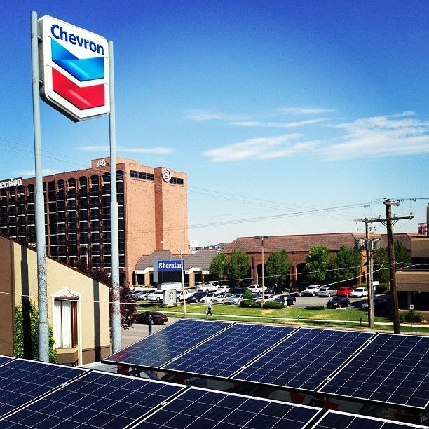 A Chevron Station In Salt Lake City Is The First Solar Powered Gas Station In The State Of Utah With Over 125 Solar Panels Installed By Solartek Sol