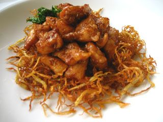 Sweet chicken gingerg food pinterest thai food recipes sweet chicken on a fried ginger bed gai wan noon rung appons thai food recipes forumfinder Images