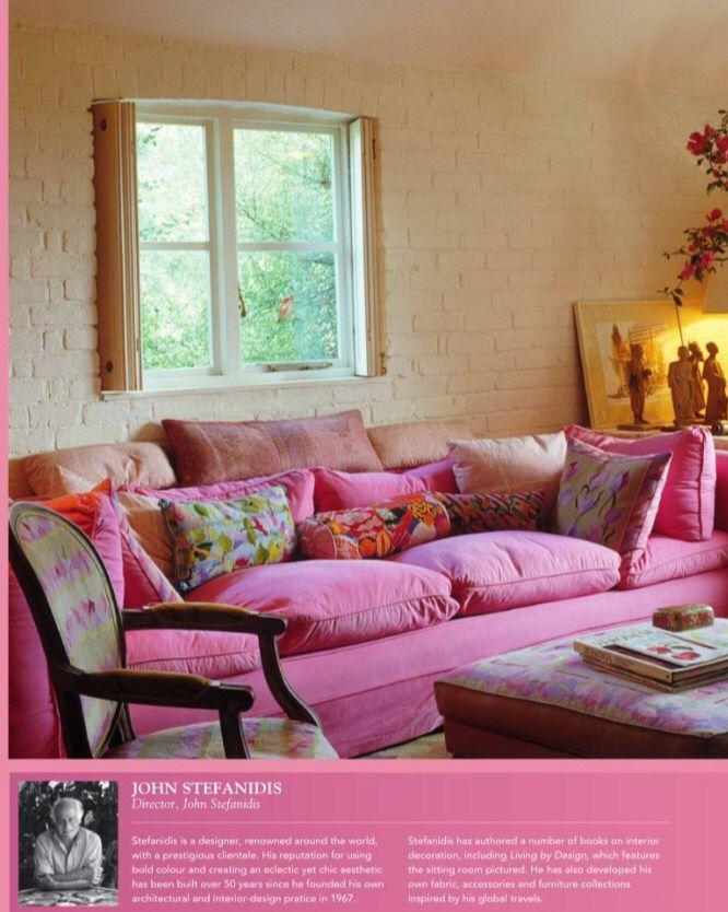 Pink sofa | Fabrics, wallpapers, and paint | Pinterest | Pink sofa ...