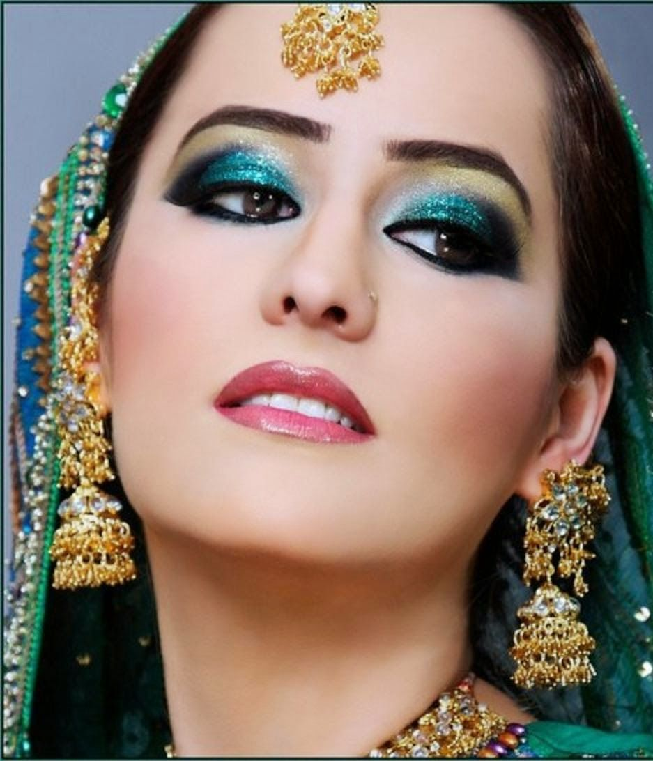 Stunning And Surprising New Looks: Indian Dulhan New Look Makeup Ideas 2014 For Girls Image