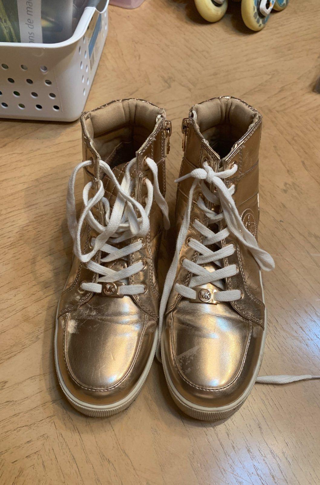 Michael Kors gold converse shoes. My