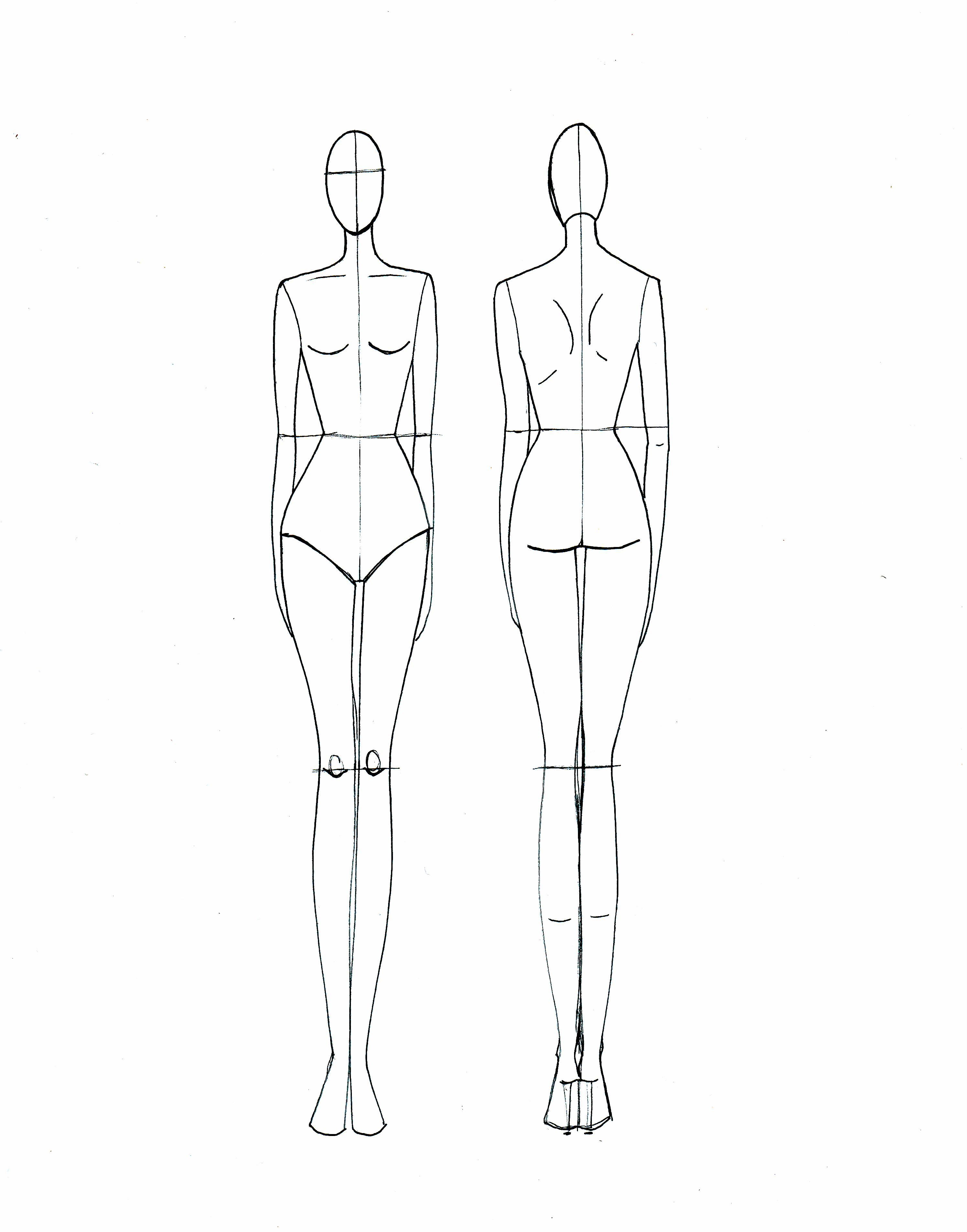 Fashion Drawing Template Art Fashion Illustration Template
