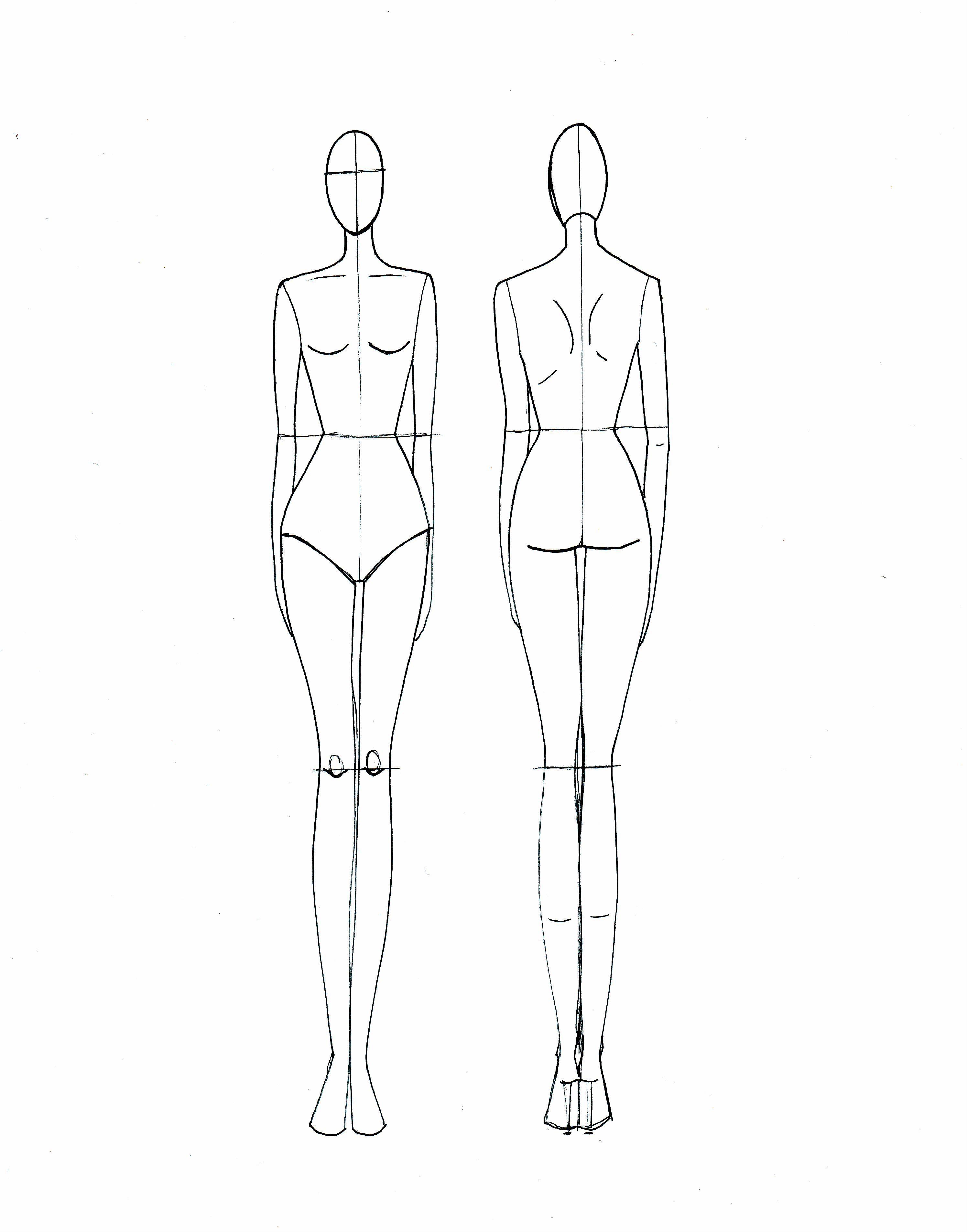 Fashion Drawing Template | Zeichnen, Illustration tutorial und Mode