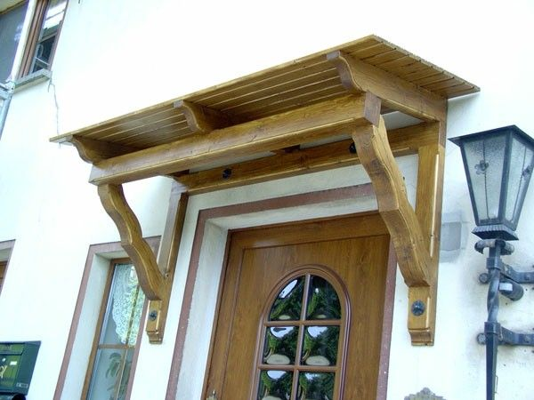 Wood canopy canopy over the entrance door design http - Attractive patio gazebo canopy designs for inviting outdoor room ...