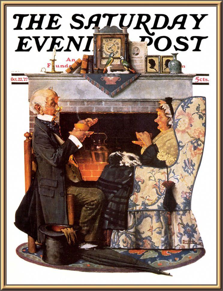 Norman Rockwell Saturday Evening Post Print TEA TIME