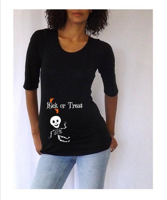 Maternity Halloween shirt  Kick or Treat  with by DJammarMaternity, $27.00