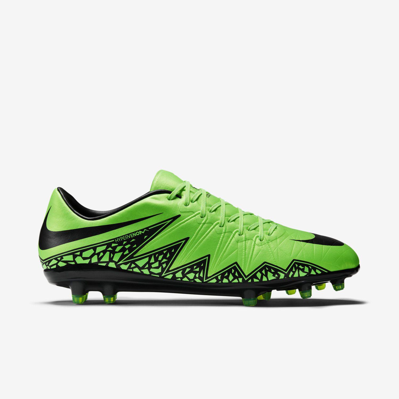 339dea12b88b Nike Hypervenom Phinish II FG Soccer Cleats Sizes 7.5 9.5 Green Black  749901-307