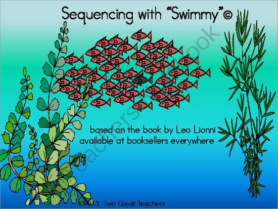 Sequencing Swimmy By Leo Lionni From Two Great Teachers On