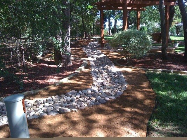 River Rock Drainage Channel Rock Drainage Landscaping
