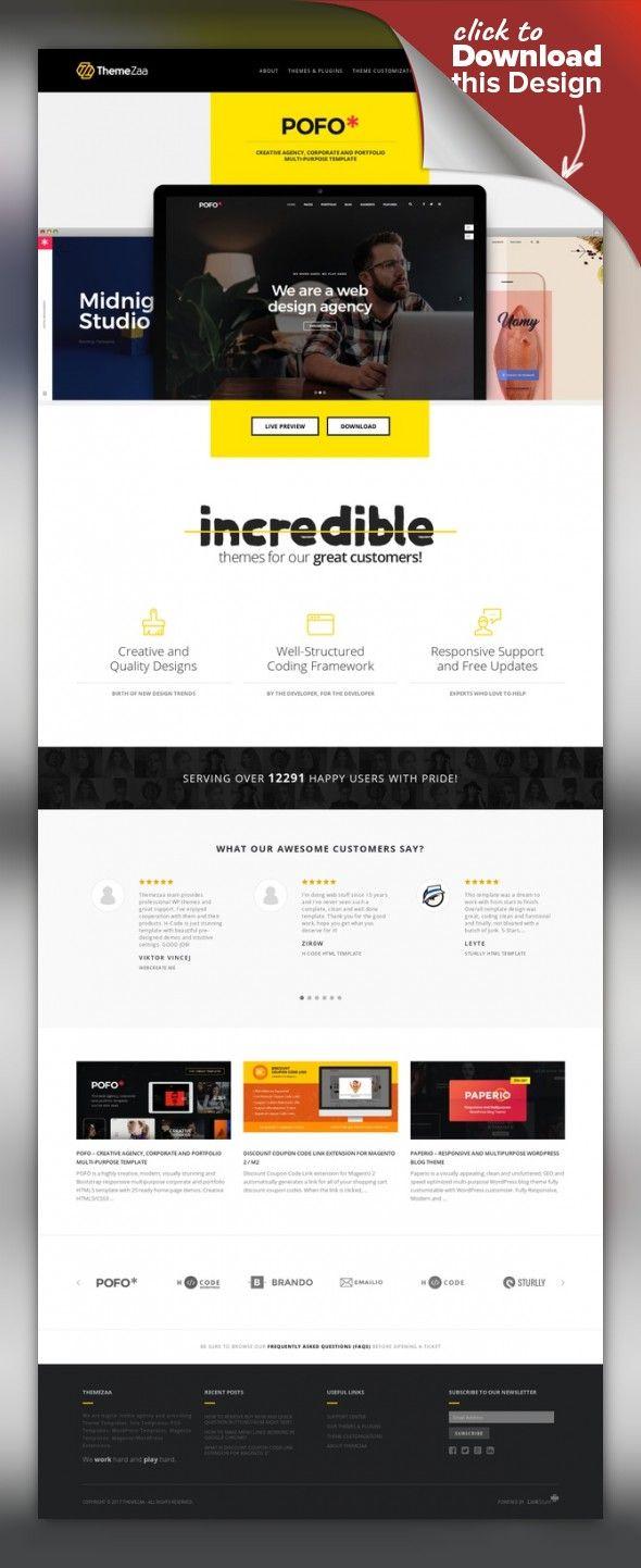 Brando Responsive and Multipurpose OnePage WordPress Theme ...