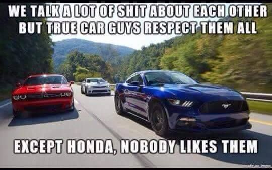 Lol But Even Honda Gets Love In Their Own Right Funny Car