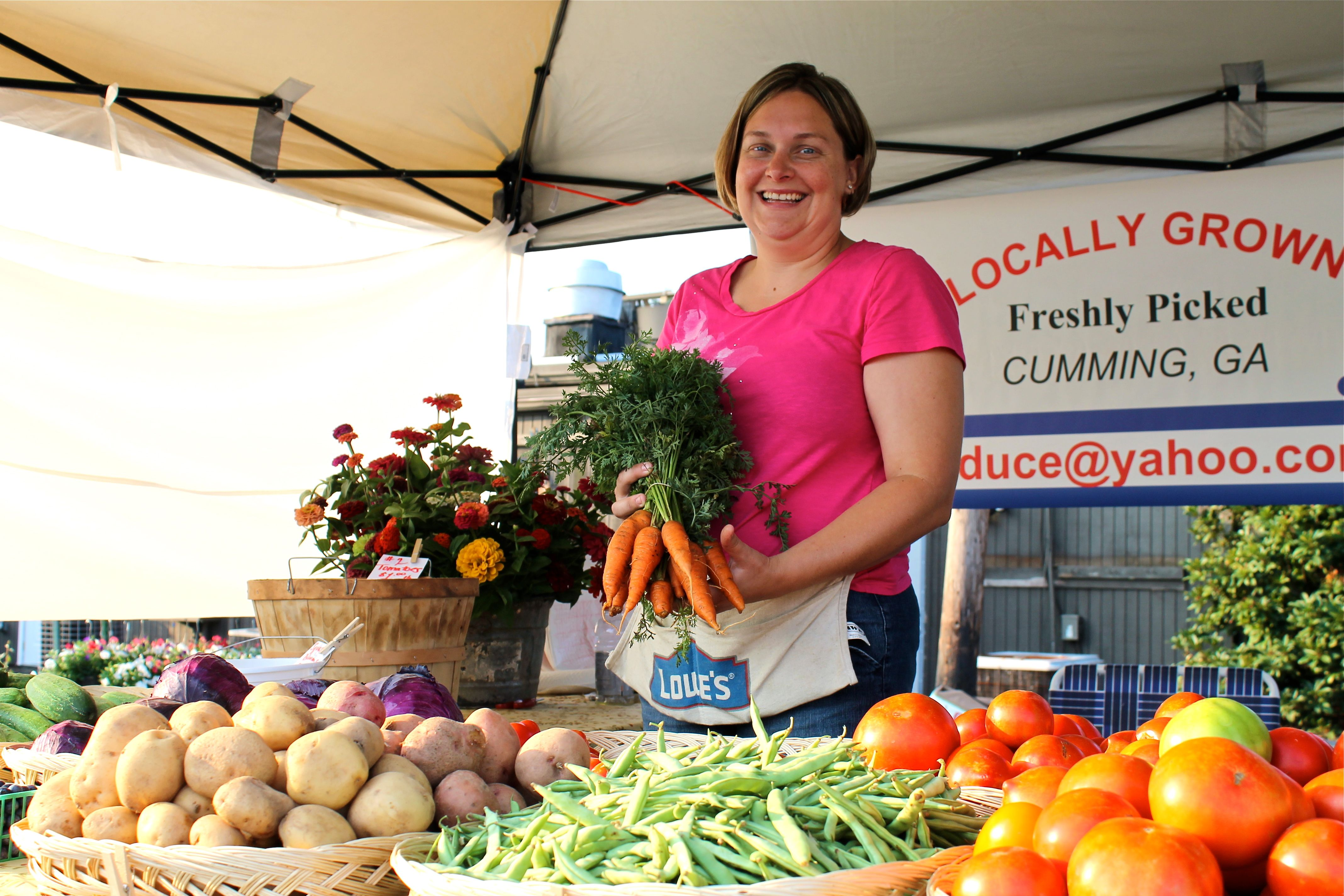 Support local farmers at the Alpharetta Farmers Market
