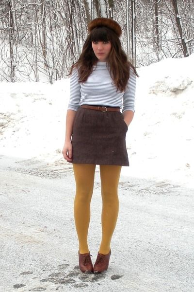 Mustard tights styled