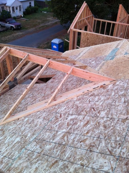 how to build a pitched roof over a porch