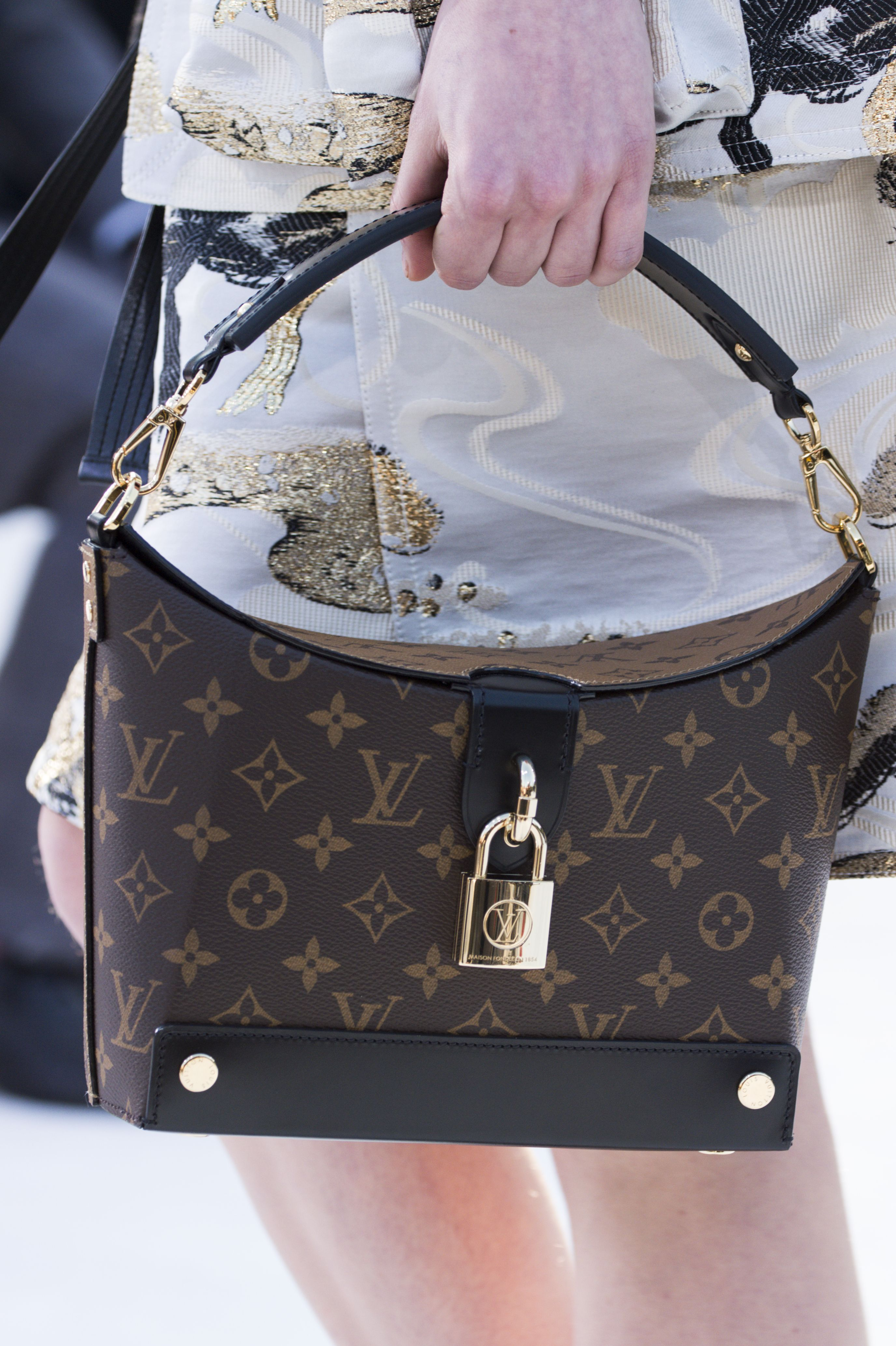 f954c2a9b8cef A closer look at a bag from the Louis Vuitton Cruise 2018 Fashion Show by  Nicolas Ghesquière, presented at the Miho Museum near Kyoto, Japan