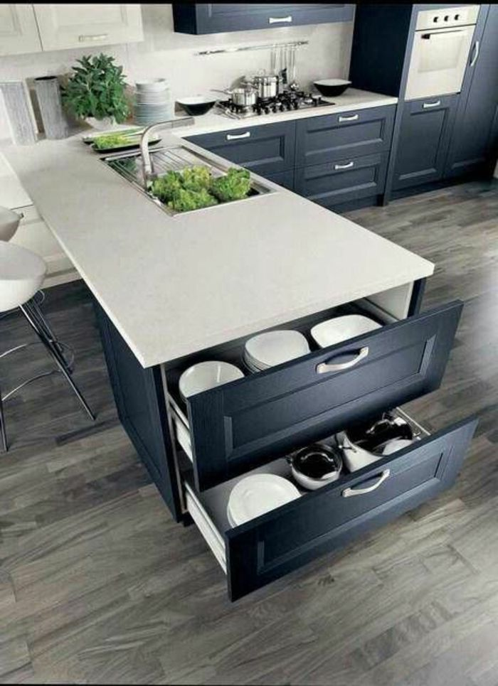 1000+ images about cocinas on Pinterest Bistro kitchen, Appliance
