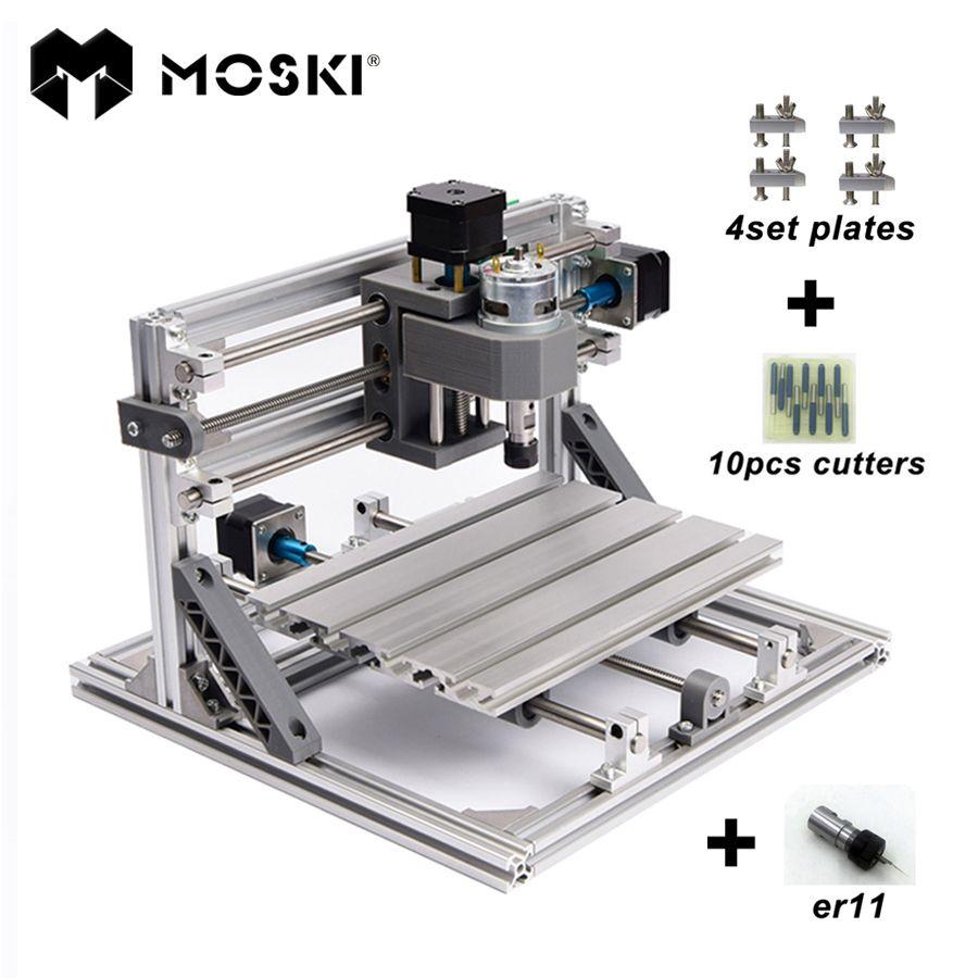 Moski чпу 2418 с Er11 мини чпу для лазерной гравировки Pcb фрезерные станки дерево вырезка машины чп Cnc Engraving Machine Diy Cnc Laser Engraving Machine