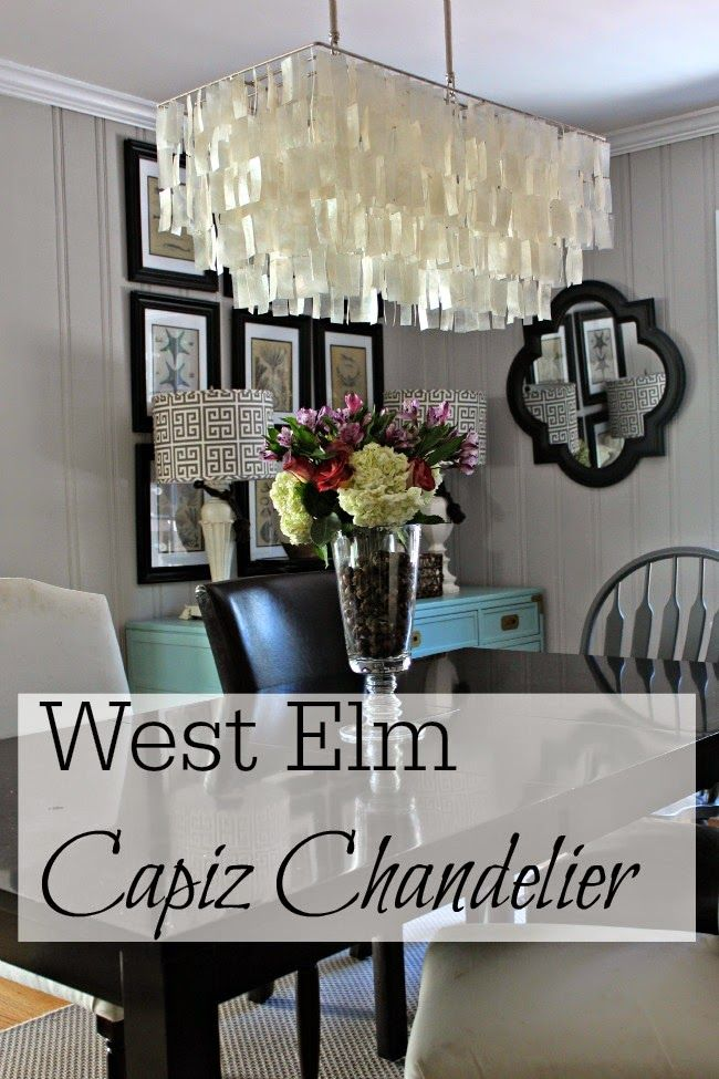 West Elm Capiz Chandelier With Images