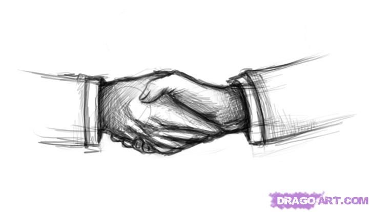 How To Draw Shaking Hands Step By Step Hands People Free Drawing People Drawings Art