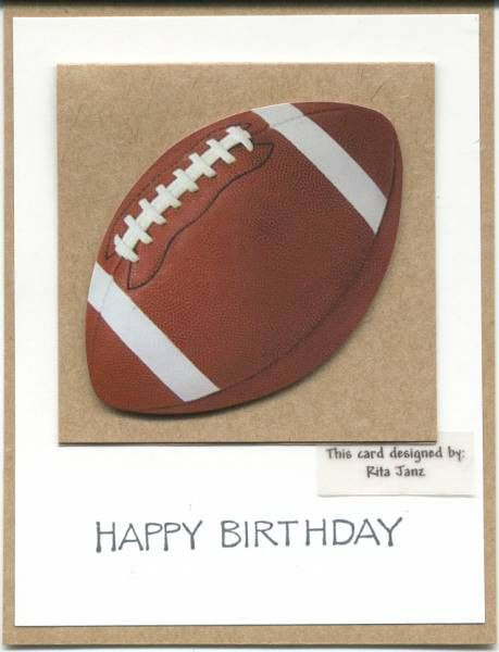 Tim S Football Birthday Card By Scootsv Cards And Paper Crafts At Splitcoaststampers Dad Cards Birthday Cards For Men Birthday Cards For Boys