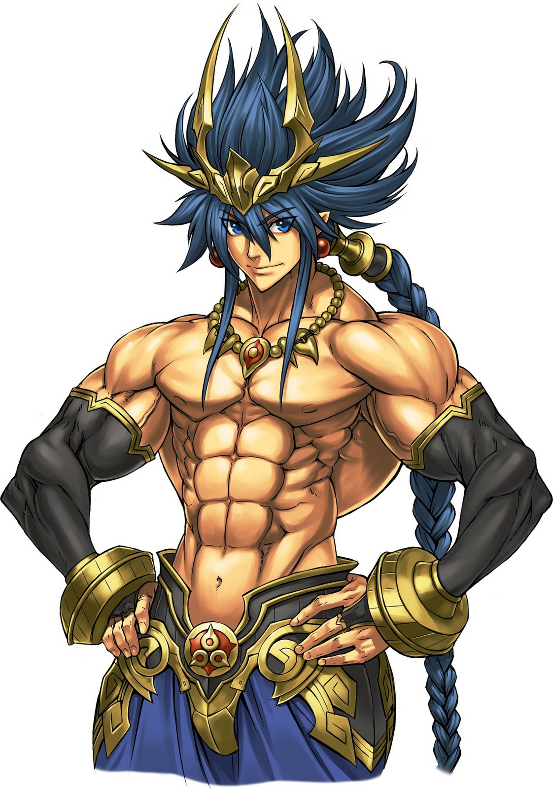 Muscular Anime Characters : muscular, anime, characters, Anime, Style, Character, Warrior,, Warrior, Drawing,