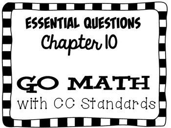 Second Grade Go Math Essential Questions Chapter 10 Go Math Go Math 2nd Grade This Or That Questions