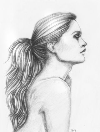 result side view girl
