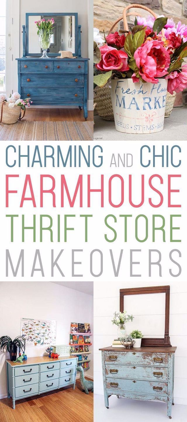 Charming and Chic Farmhouse Thrift Store Makeovers | The Cottage Market | Bloglovin'