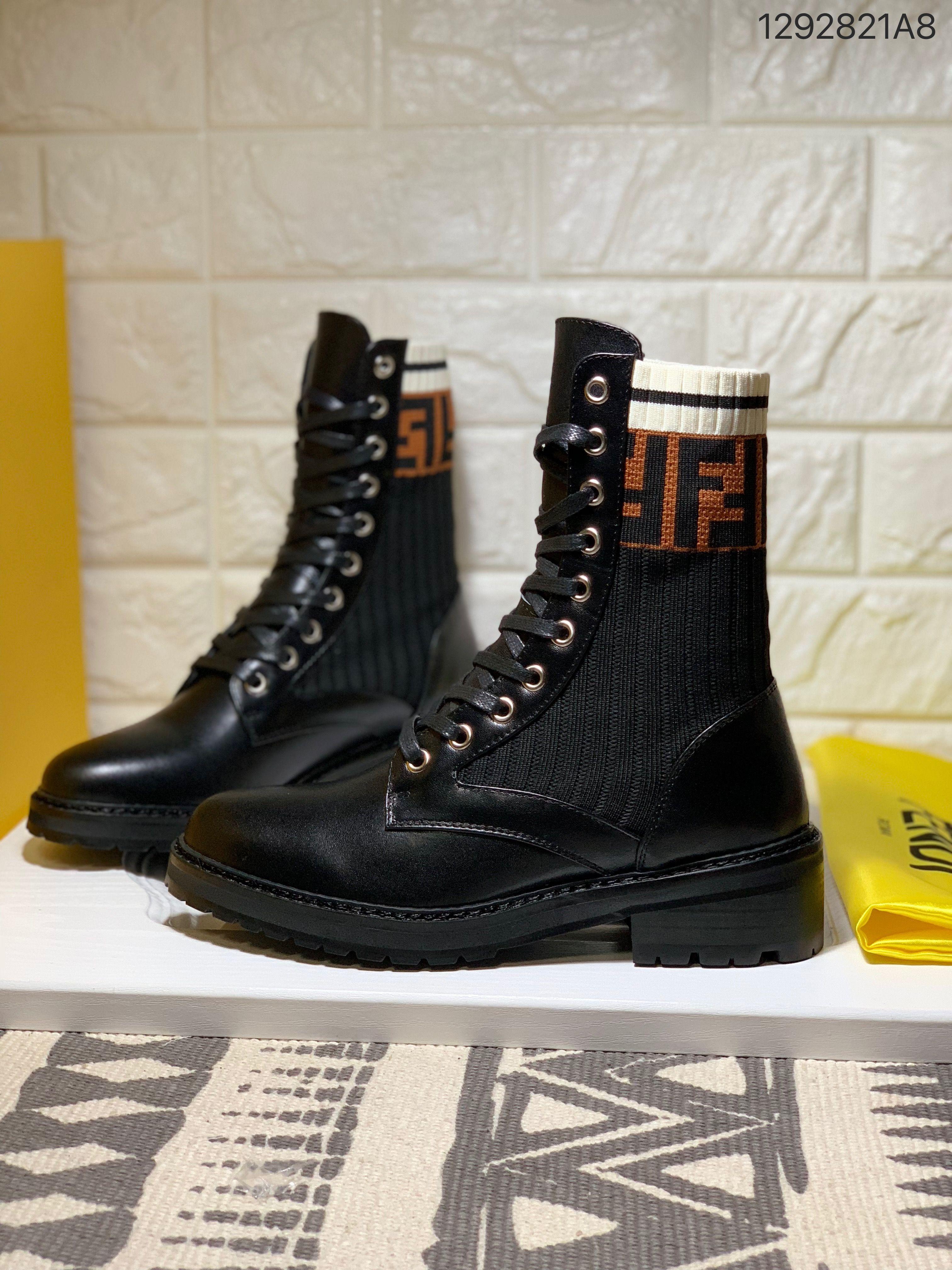 a14e003f4b4 Fendi woman Martin boots scooter shoes
