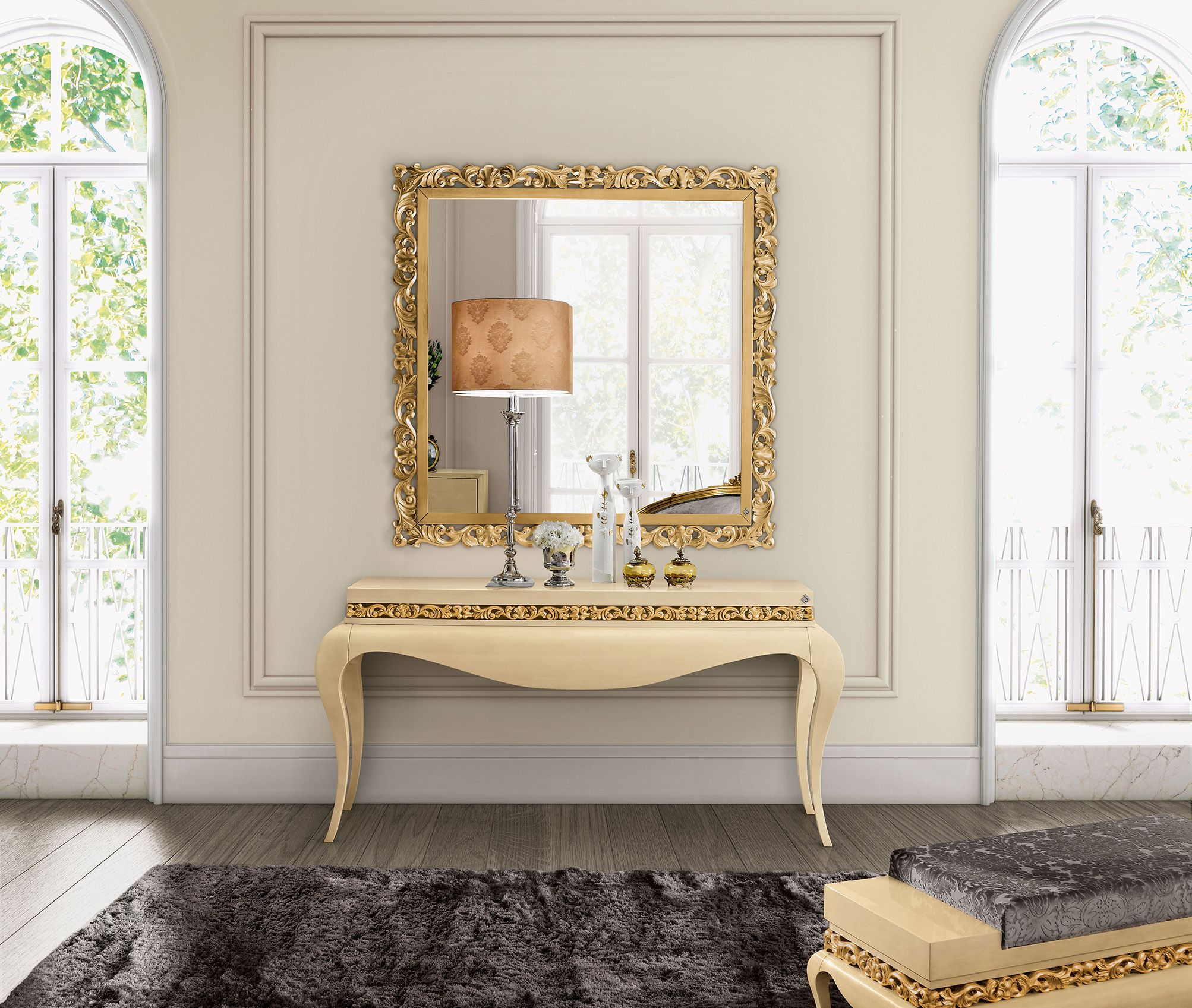 Luxus Console And Mirror Jetclass Real Furniture Luxury Interior  # Muebles Jetclass