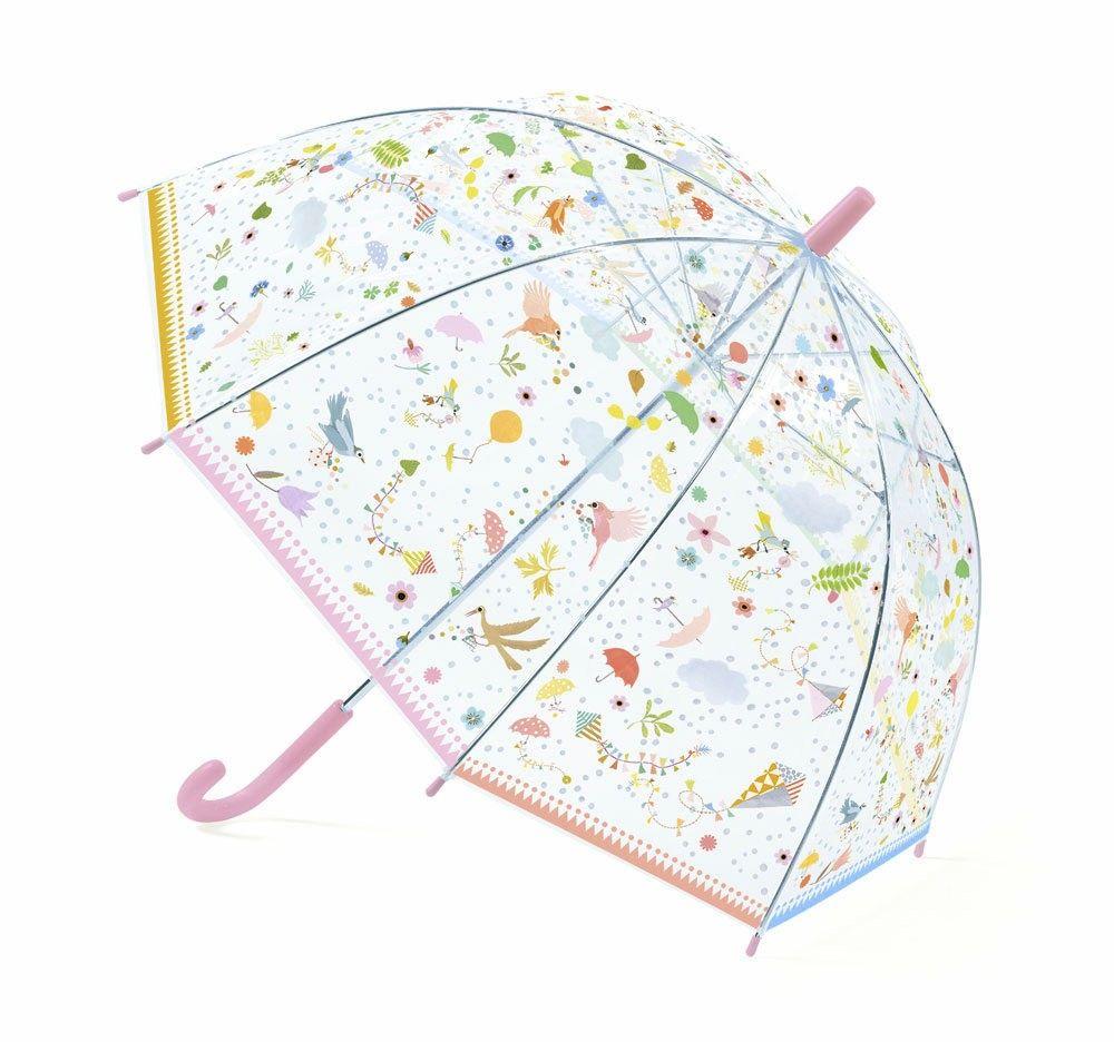 Paraguas infantil con pájaros y flores para disfrutar lo días de ...