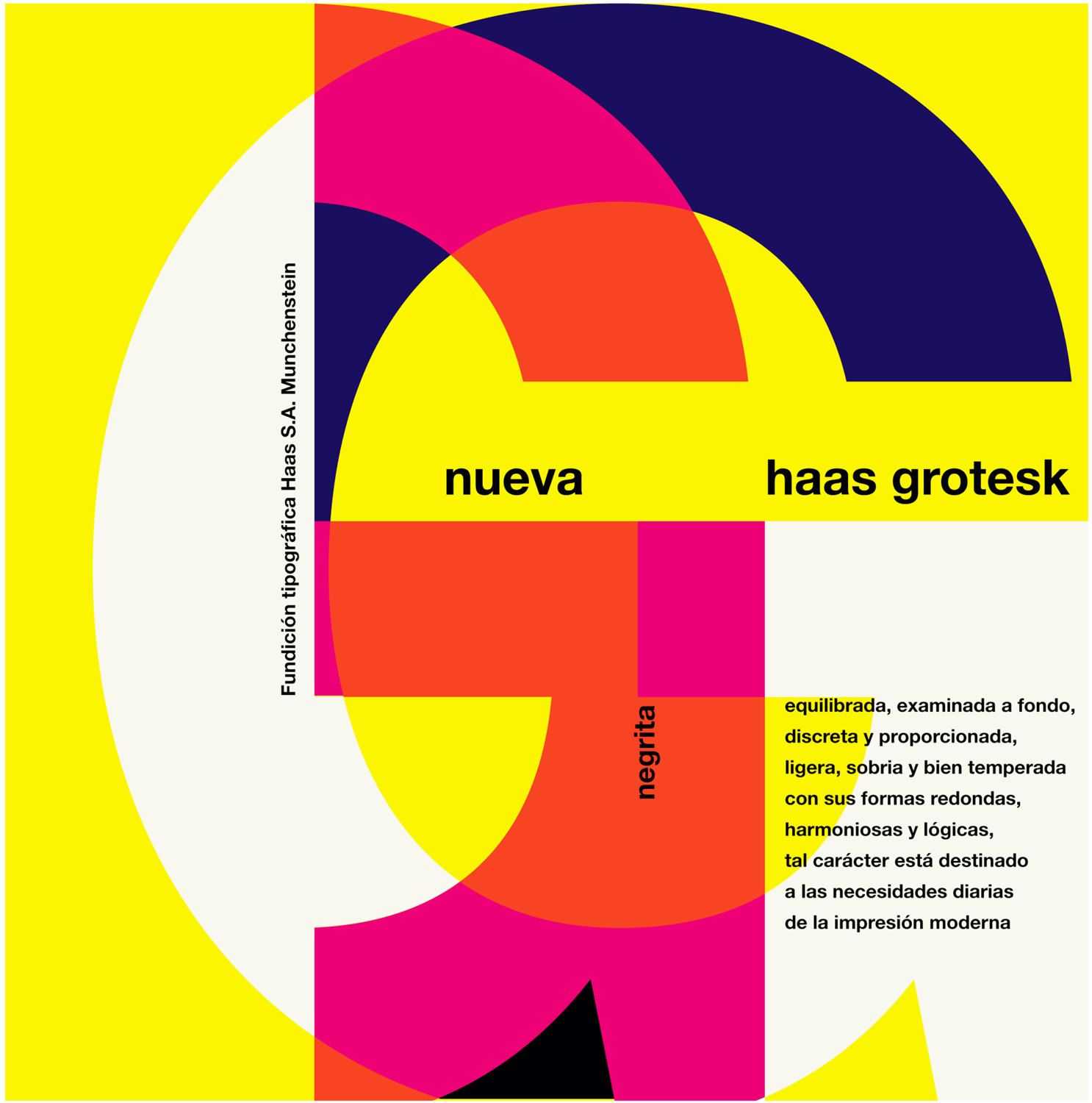 Haas Grotesk Typography Print Mid-Century Graphic Design Poster Wall ...