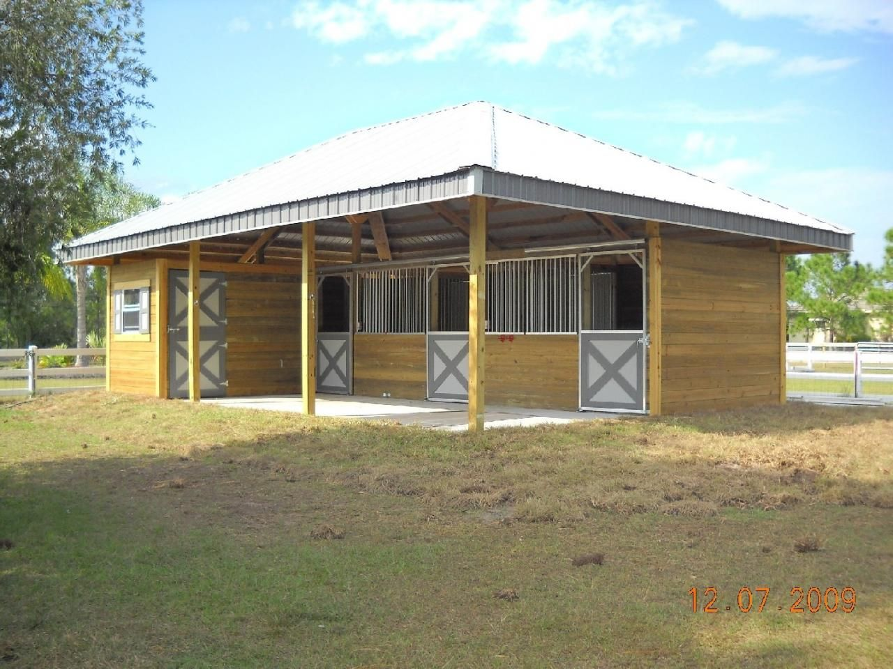 Horse Stables With Hay Storage We Build Custom Pole