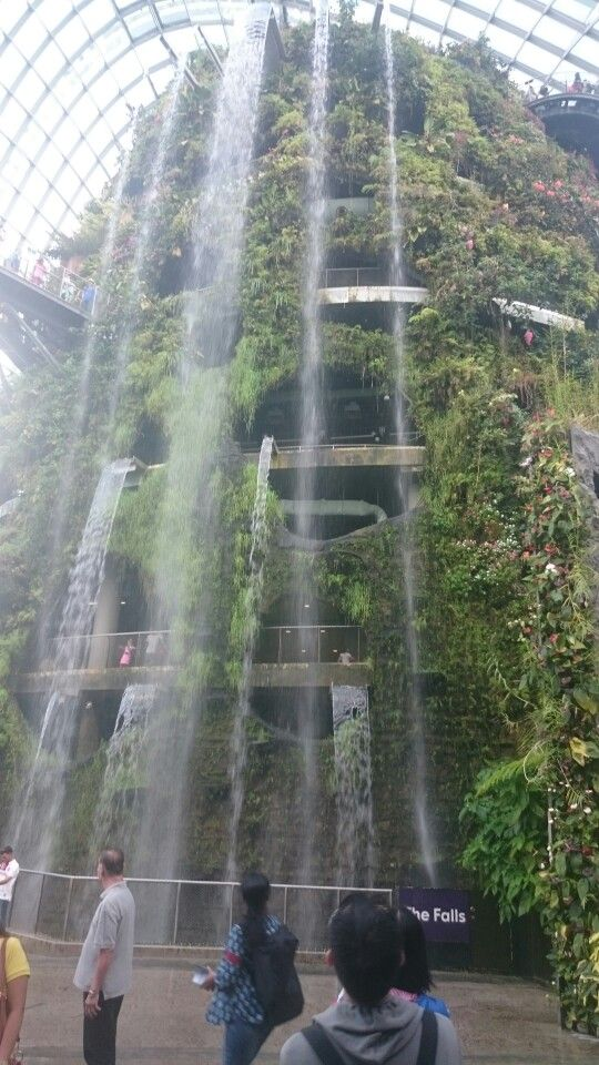 Gardens By The Bay In Singapore Indoor Waterfall Singapore