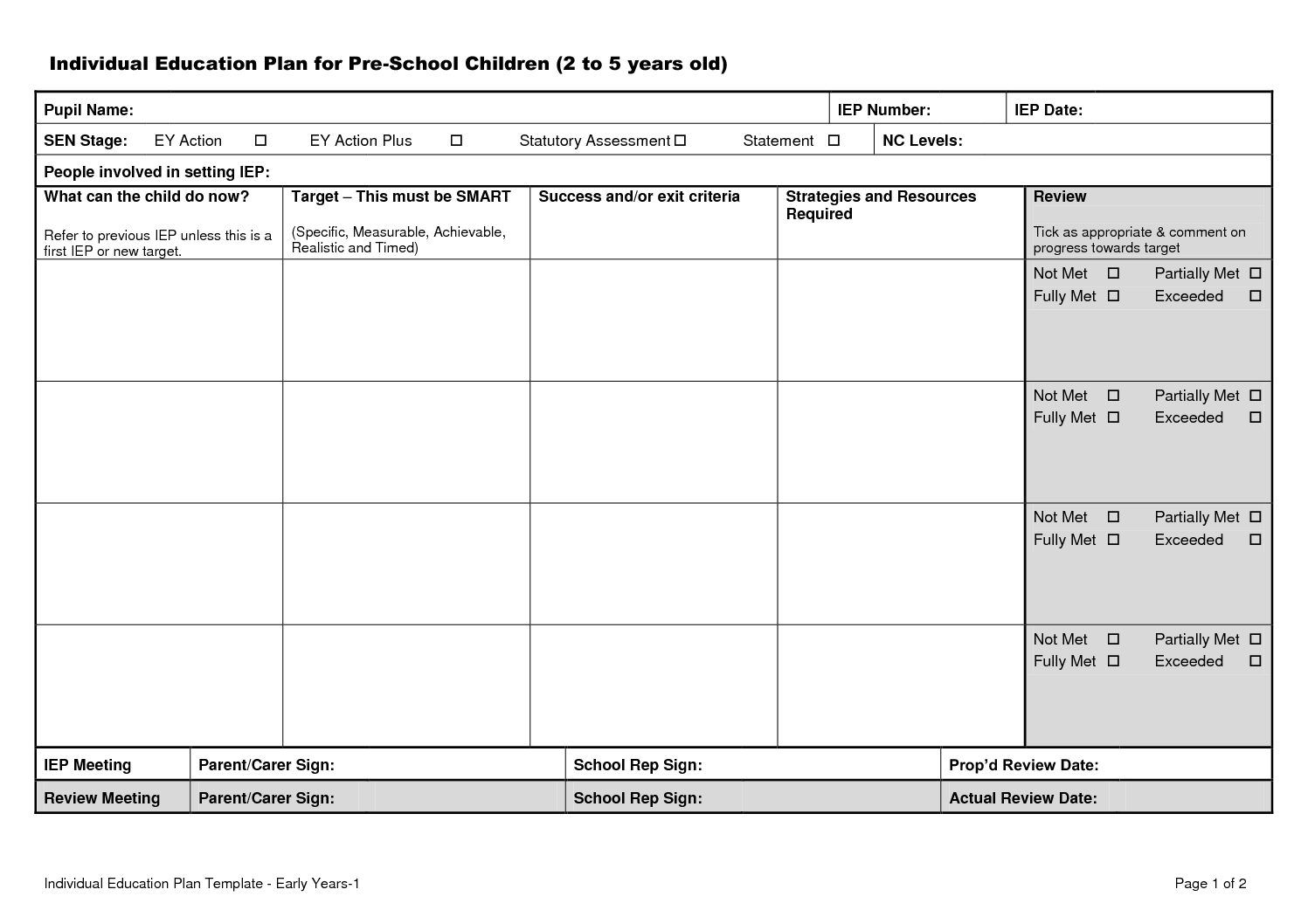 Image result wey dey for iep template Education plan