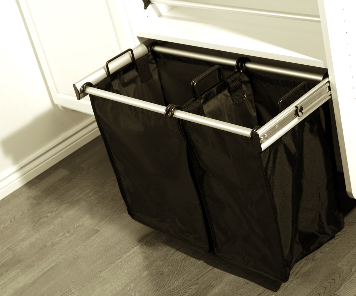 Add A Pull Out Laundry Hamper To Your Custom Closet Hafele