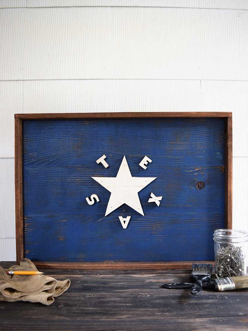 Texas 1836 Timber Old Try Wooden Wall Art Texas Flags Wall Candy