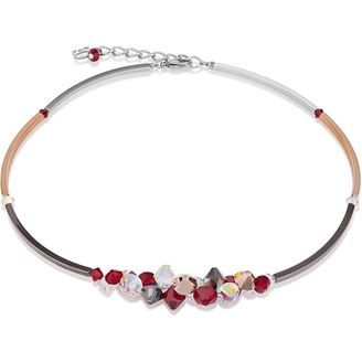 Red, Gold & White Berry Swarovski Crystal Necklace - The award-winning German house of #COEURDELION.  #necklace #jewellery #swarovskicrystal