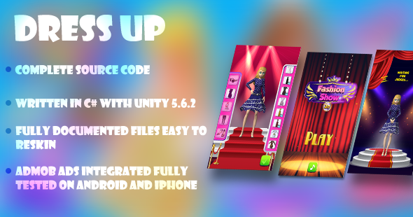 Dress Up Kids Game | Unity 5 6 2 | Admob Integrated | Ready