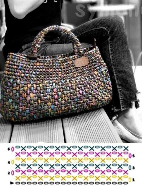 Photo of Bolsas de crochê com gráfico dos pontos ⋆ De Frente Para O Mar