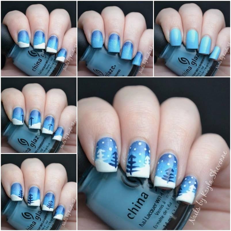 28 creative winter nail art ideas christmas nails christmas 28 creative winter nail art ideas prinsesfo Gallery
