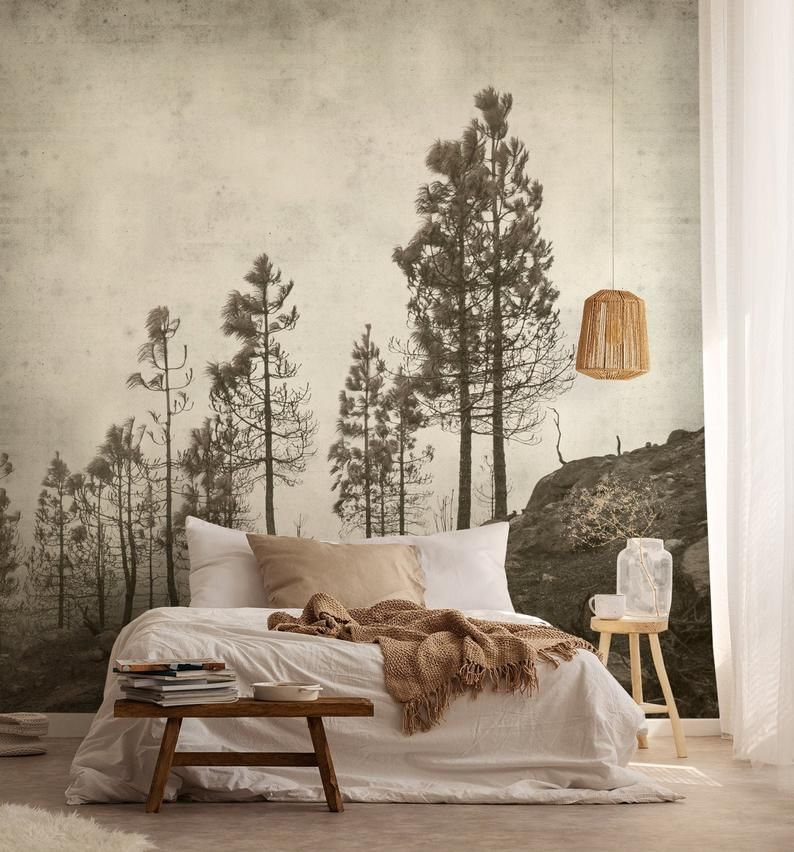 Old Pines Self Adhesive Wallpaper Photo Wallpaper Wallpaper Etsy In 2020 Self Adhesive Wallpaper Standard Wallpaper Adhesive Wallpaper