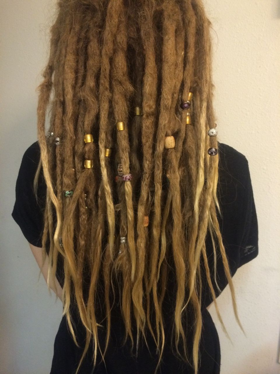 Dreadlock Hair Tie for Dreads Elastic Adjustable with Beads Dread Dreadlock Band