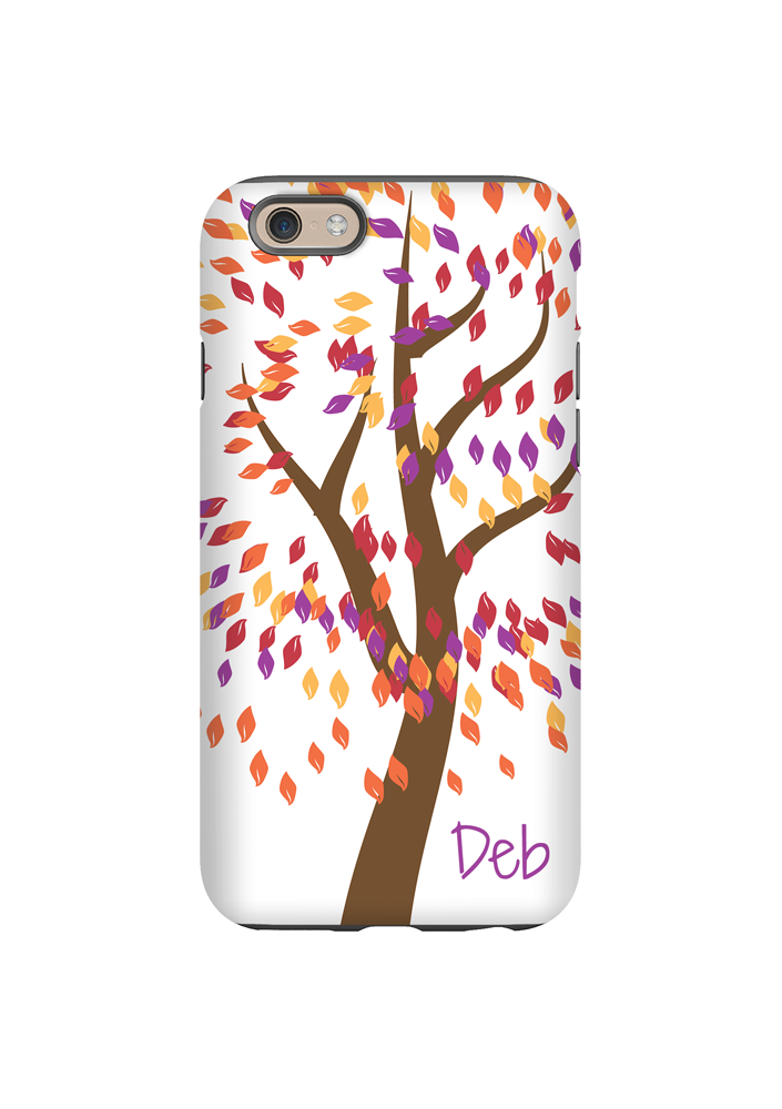 Fall Leaves Personalized iPhone Case/Galaxy Case
