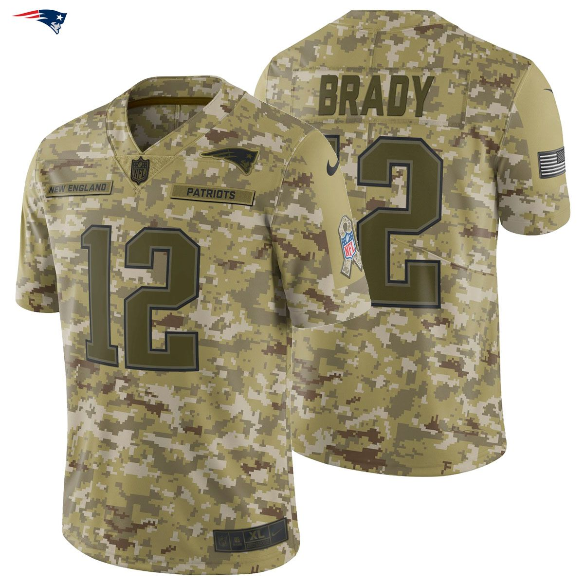 Tom Brady  12 Nike 2018 Salute to Service Limited Jersey New England  Patriots Army Salute The Troops! The NEW 2018 Salute To service Line Is  Finally Here! 375df5fc2