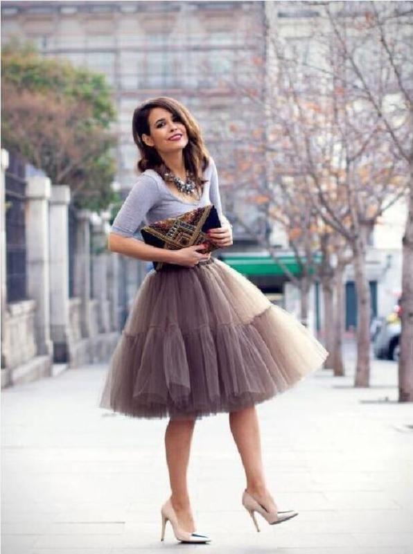 b36b88427cd4 New Fashion Women Girl Princess Fairy Style 5 layers Tulle Dress Bouffant  Skirt