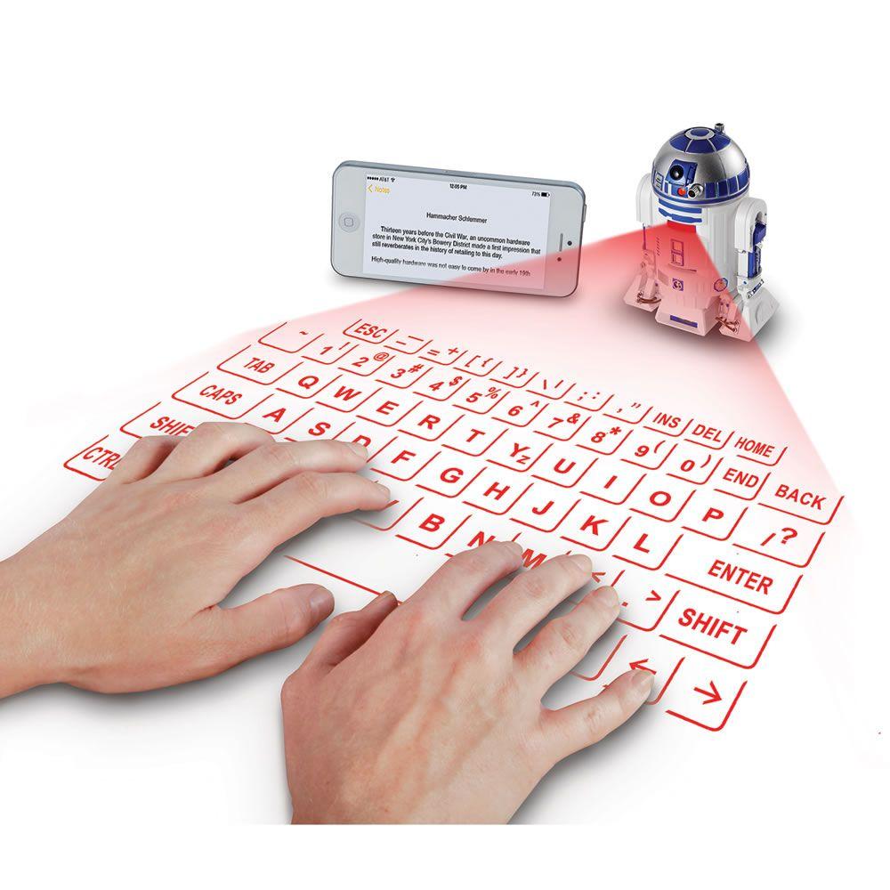 The R2d2 Virtual Keyboard Hammacher Schlemmer Hammacherholidays