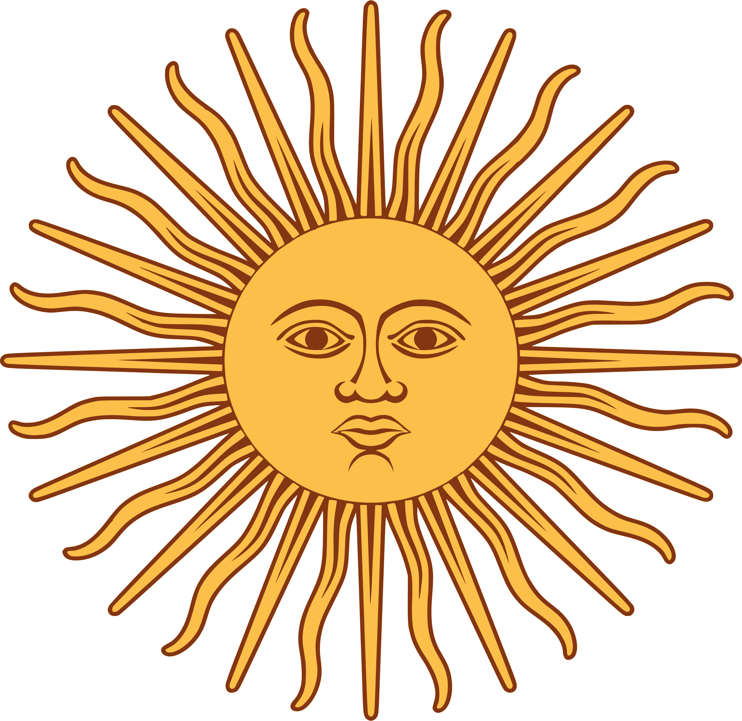 Sol De Mayo Bandera De Argentina By Liftarn The Sun From The Flag Of Sun Art Argentina Flag Public Domain Clip Art