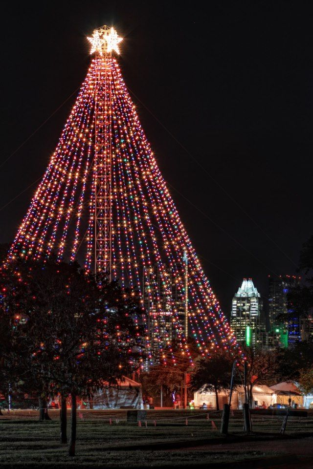 Zilker Park Christmas Tree - Austin, Texas USA - Zilker Park Christmas Tree - Austin, Texas USA Waltz Across Texas