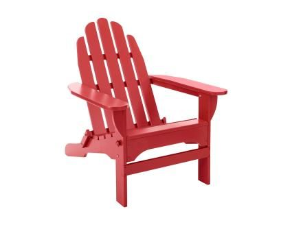 Ash+wood+Adirondack+chair+in+red,+$199,+llbean.com | 50 HGTV classic ...